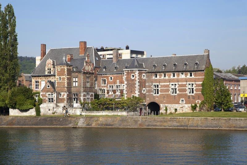 Construção anterior de Val-Saint-Lamberto abby em Huy fotos de stock royalty free