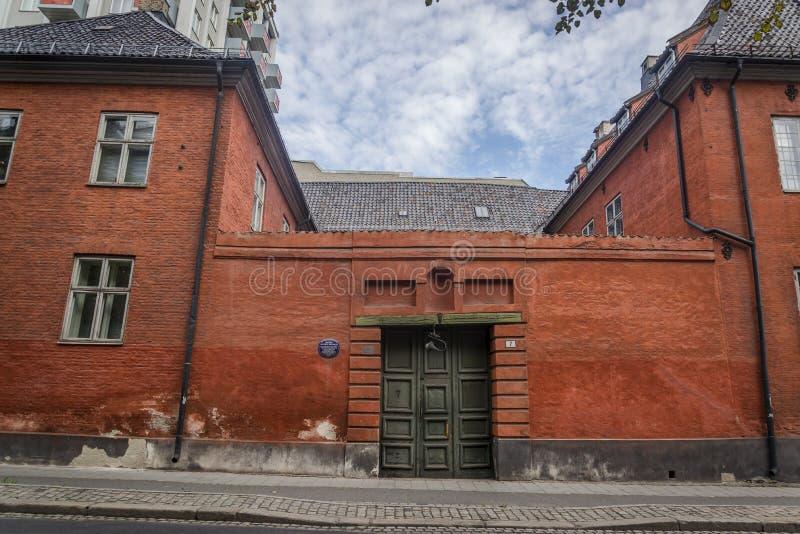 Construção anterior do século XVII, Oslo da câmara municipal, Noruega fotos de stock