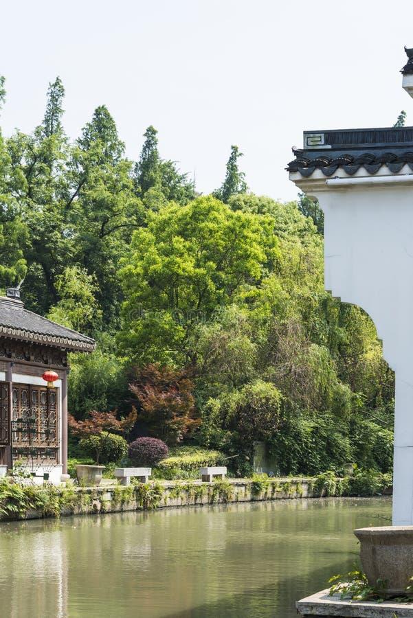 construção antiga ao longo do rio de Qinghuai imagem de stock royalty free
