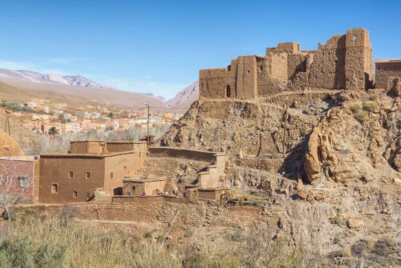 Construção antiga do casbah, Marrocos fotografia de stock