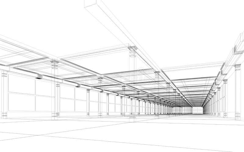 Construção arquitectónica abstrata ilustração royalty free