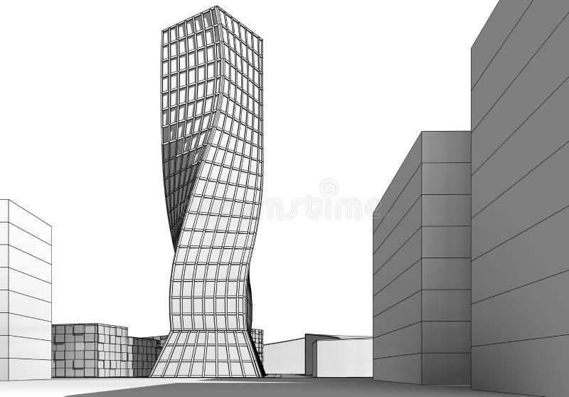 Construção arquitetónica foto de stock royalty free