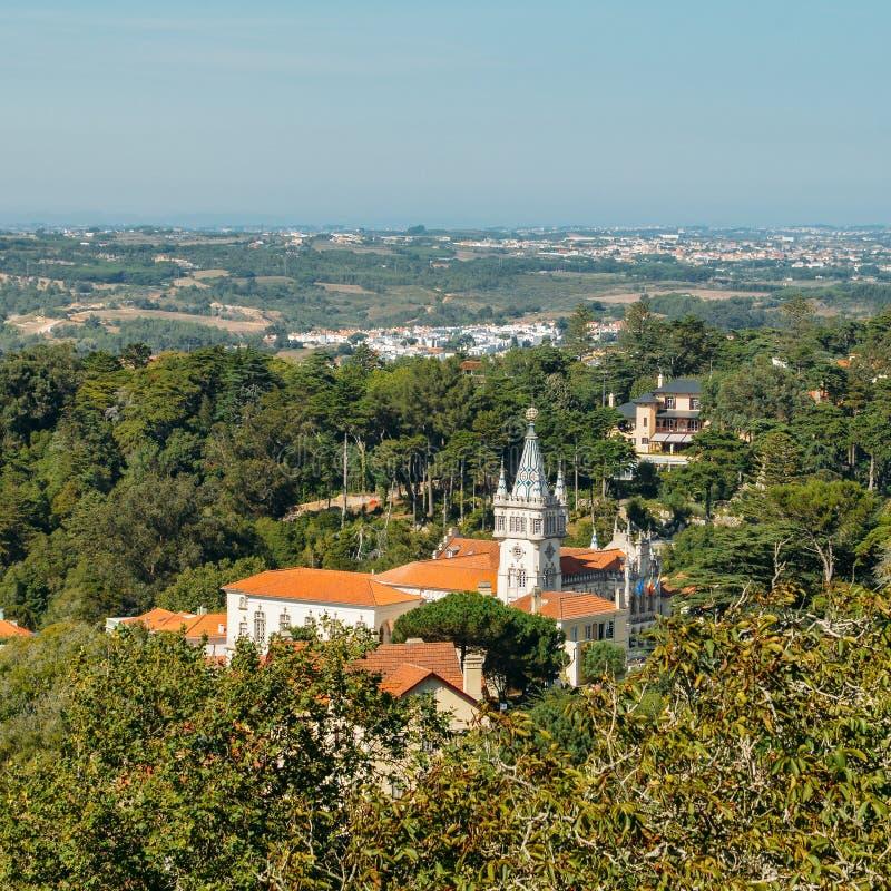Construção barroco da câmara municipal de Sintra em Portugal foto de stock royalty free