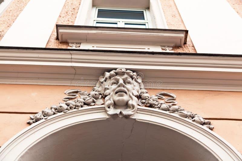Construção belamente renovada do art nouveau imagem de stock royalty free
