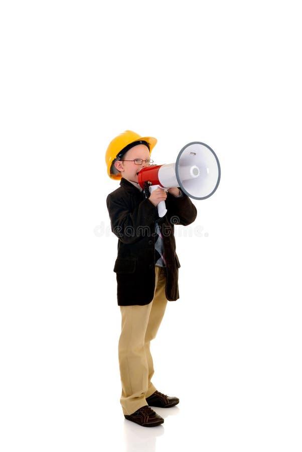 Construção bem sucedida da criança imagem de stock royalty free