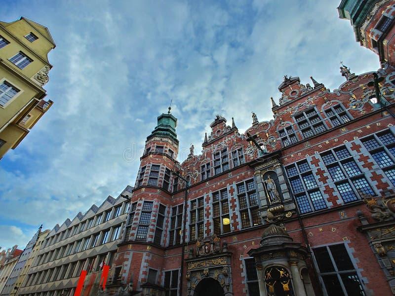 Constru??o bonita no centro de Gdansk imagem de stock royalty free