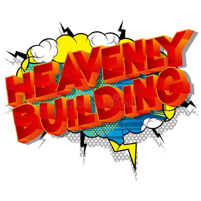 Construção celestial - palavras do estilo da banda desenhada ilustração royalty free