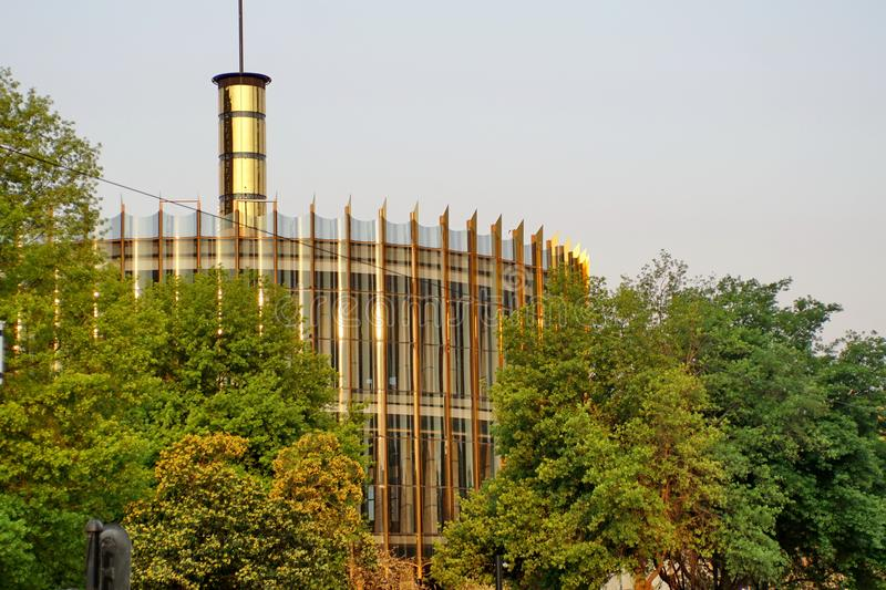 Construção circular em Joanesburgo do centro foto de stock