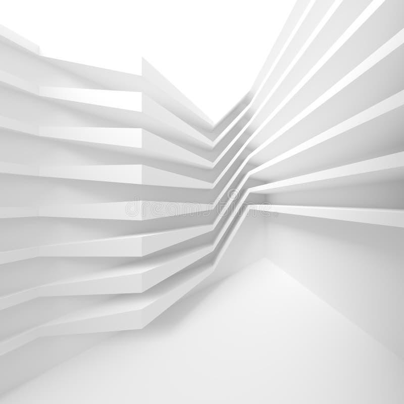 Construção civil branca Abstraia o fundo da arquitetura M ilustração do vetor