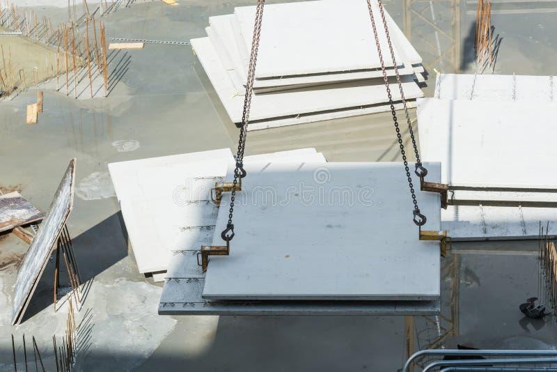 Construção civil com muros de cimento foto de stock royalty free