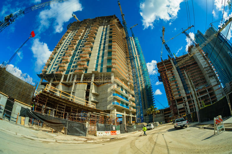 Construção civil de Miami imagens de stock royalty free