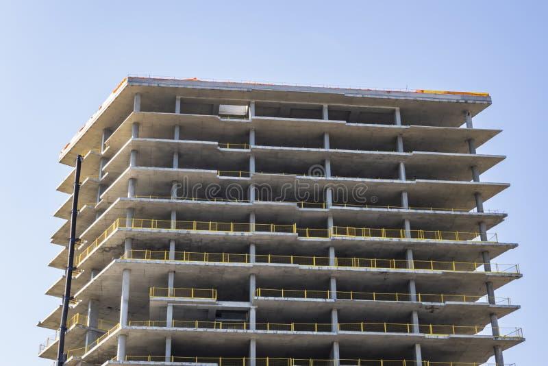 Construção civil moderna do arranha-céus fotos de stock royalty free