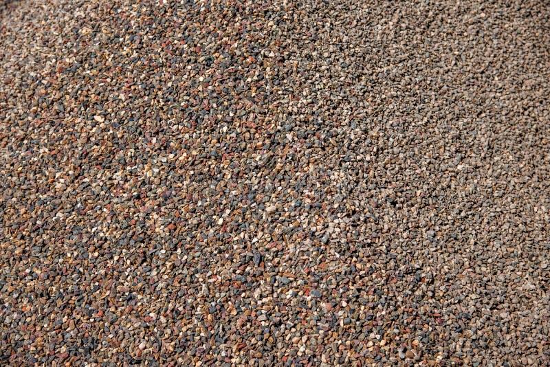 Construção civil na acumulação de areia e de cascalho foto de stock royalty free
