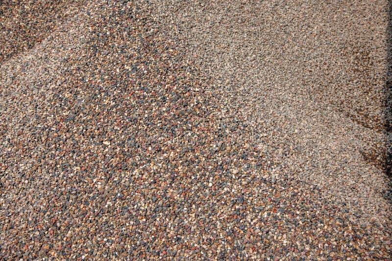Construção civil na acumulação de areia e de cascalho imagem de stock royalty free