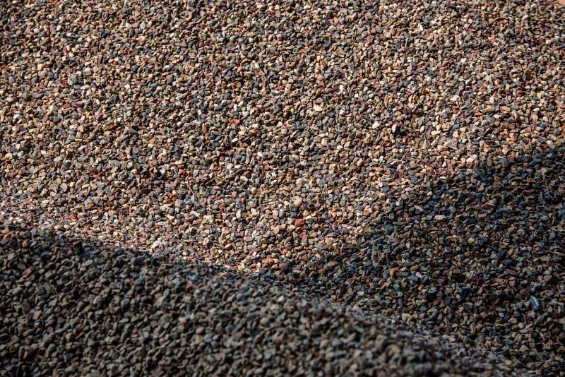 Construção civil na acumulação de areia e de cascalho imagem de stock