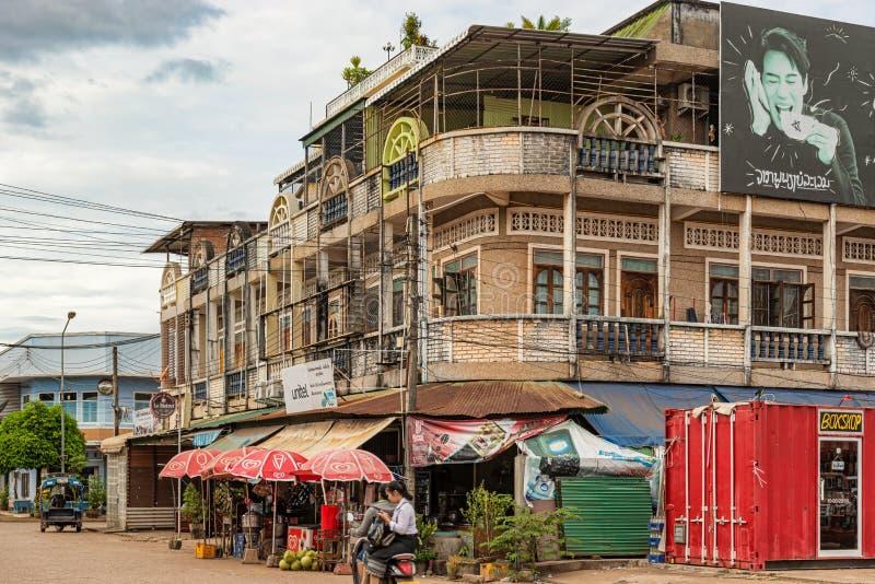 Construção colonial francesa em Pakse, Laos foto de stock