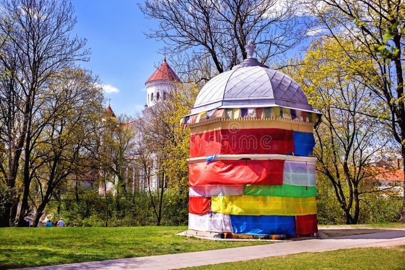 Construção coloridamente decorada em Art Incubator nos upis do ¾ de UÅ, V imagem de stock royalty free