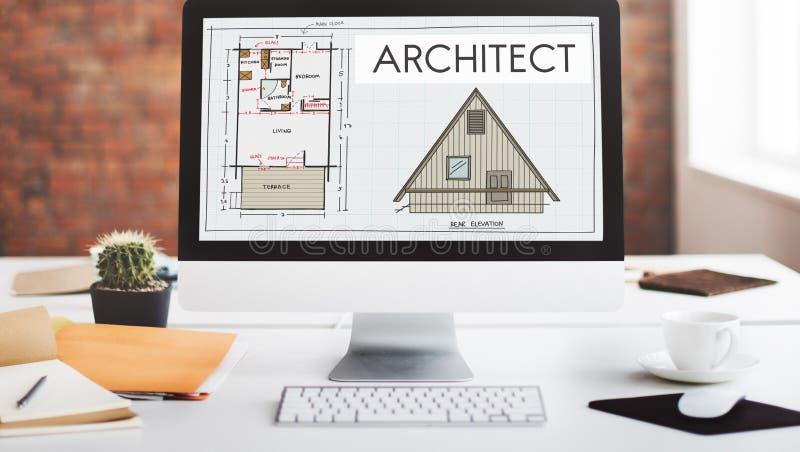 Construção Concep de Architecture Design Infrastructure do arquiteto fotografia de stock royalty free