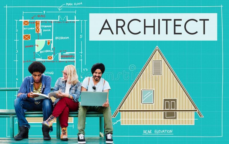 Construção Concep de Architecture Design Infrastructure do arquiteto fotos de stock royalty free