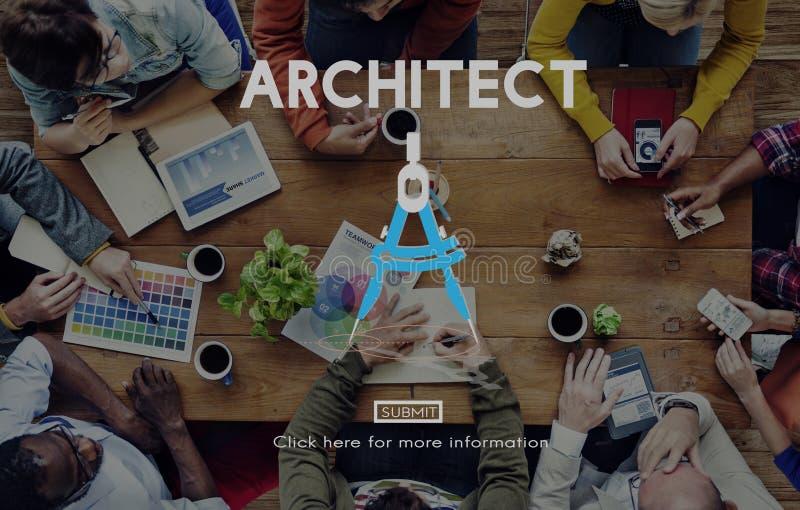 Construção Concep de Architecture Design Infrastructure do arquiteto imagens de stock royalty free
