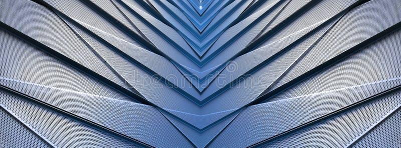 Construção contemporânea do detalhe arquitetónico de alumínio foto de stock