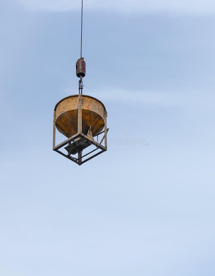 construção Crane Sling para o concr movente material pesado fotos de stock