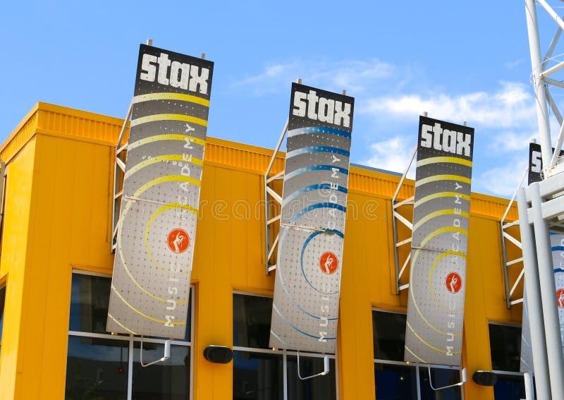 Construção da academia de música de Stax, Memphis Tennessee fotos de stock