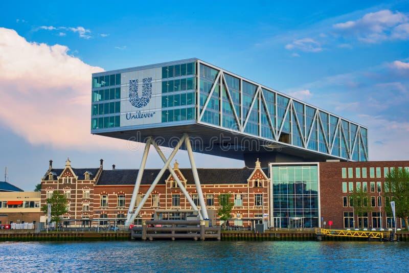 Construção da alavanca de seleção, Rotterdam fotos de stock royalty free