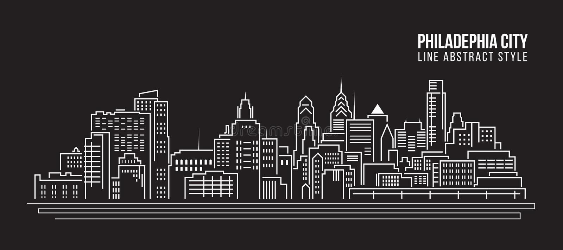 Construção da arquitetura da cidade ilustração do vetor