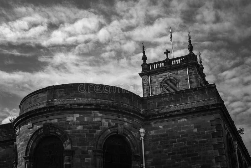 Construção da arquitetura da igreja imagens de stock royalty free