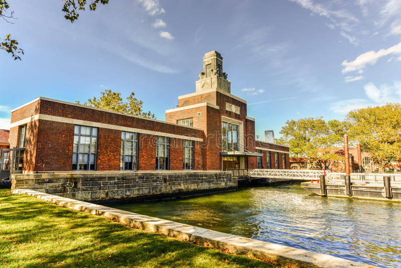 Construção da balsa - Ellis Island foto de stock royalty free