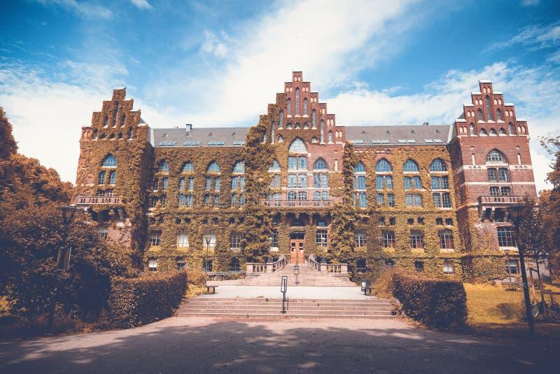 A construção da biblioteca da universidade em Lund, Suécia O buil foto de stock royalty free