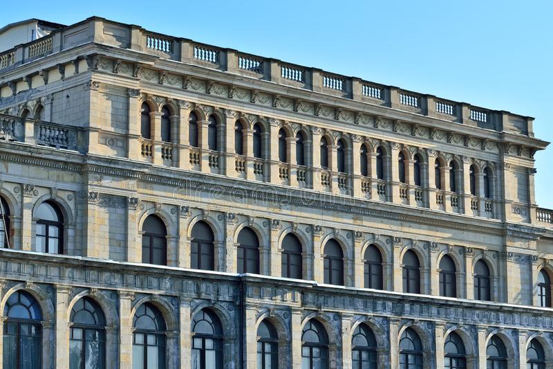 Construção da bolsa de valores anterior de Koenigsberg Kaliningrad, Rússia Arquiteto Muller, neo-renascimento, construído em 1875 fotografia de stock royalty free