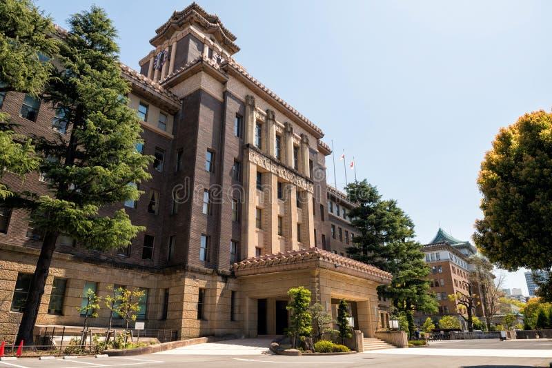 Construção da câmara municipal de Nagoya imagens de stock royalty free