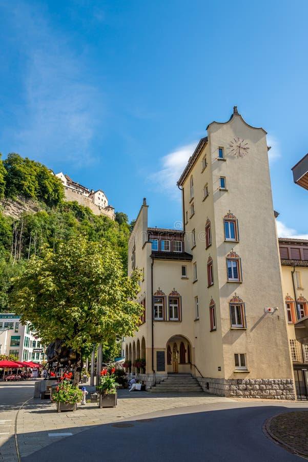 Construção da câmara municipal de Vaduz imagem de stock