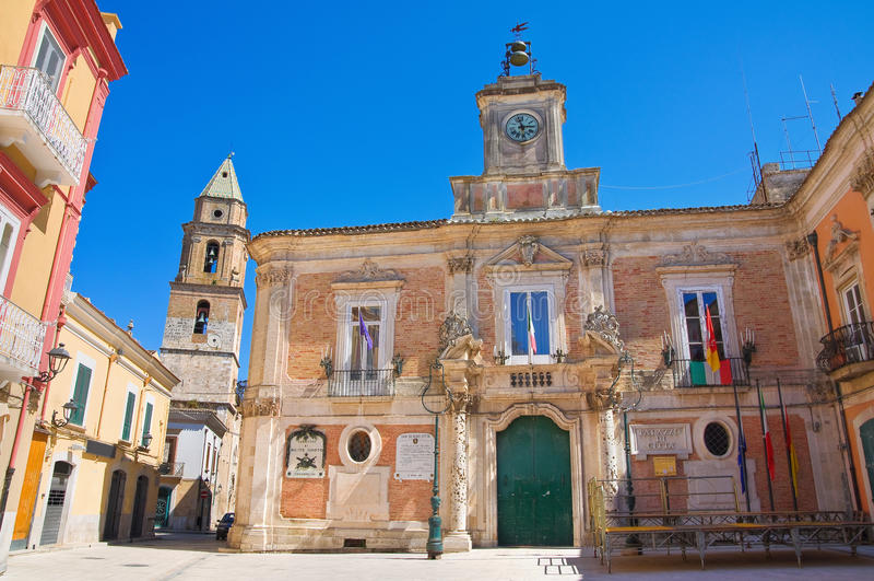 Construção da câmara municipal San Severo Puglia Italy fotografia de stock royalty free