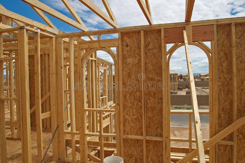 Construção da casa. fotografia de stock royalty free