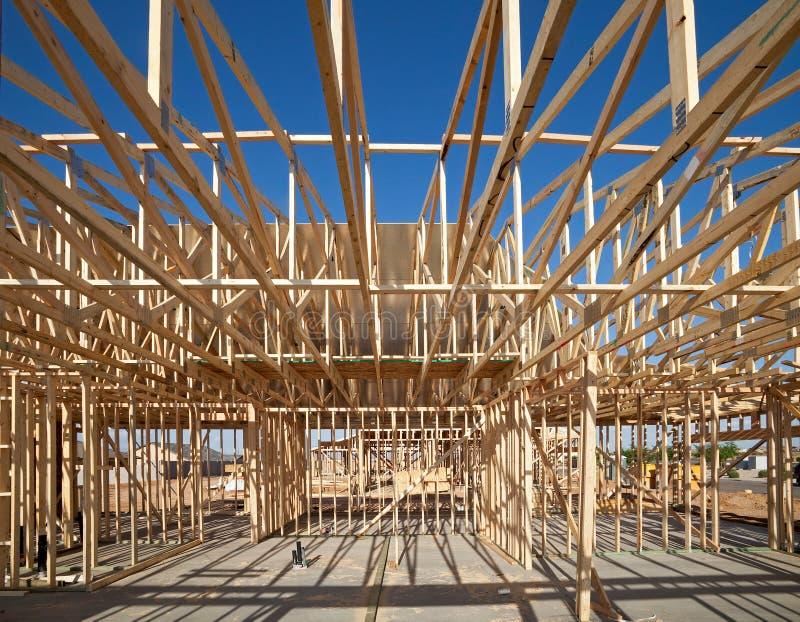 Construção da casa fotografia de stock