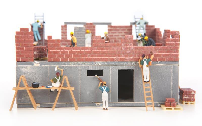 Construção da casa de campo fotos de stock royalty free