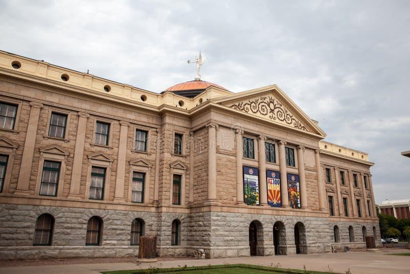 Construção da casa e do Capitólio do estado do Arizona imagens de stock