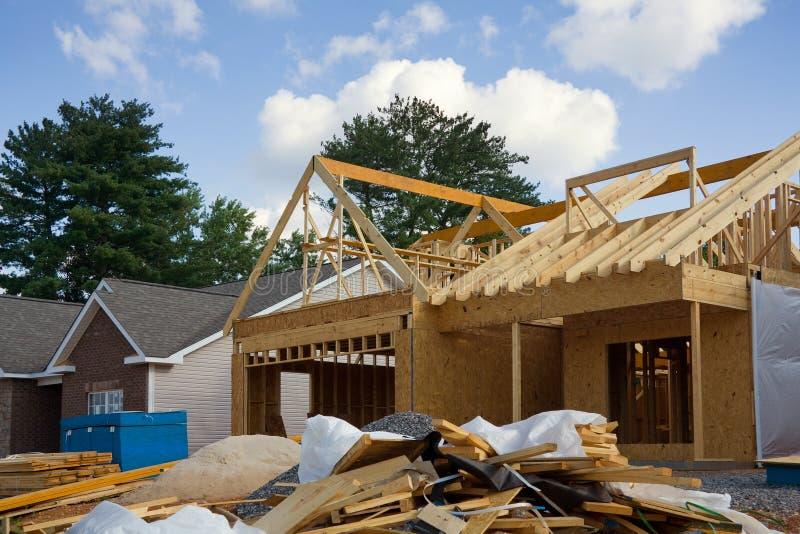 Construção da casa nova fotos de stock