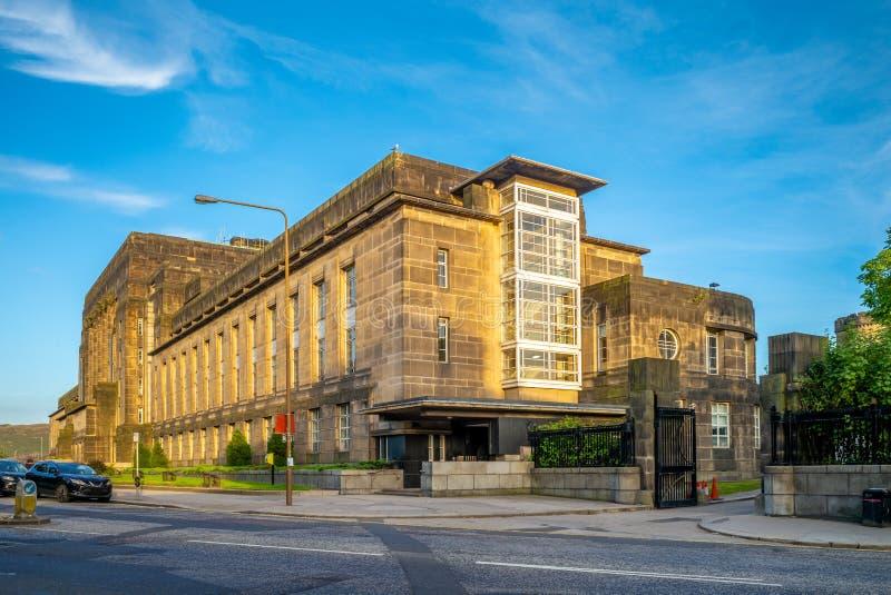 Construção da casa nova do parlamento em Edimburgo, Reino Unido imagens de stock