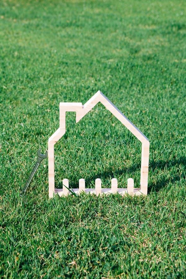 A construção da casa renova, conceito da melhoria home fotos de stock