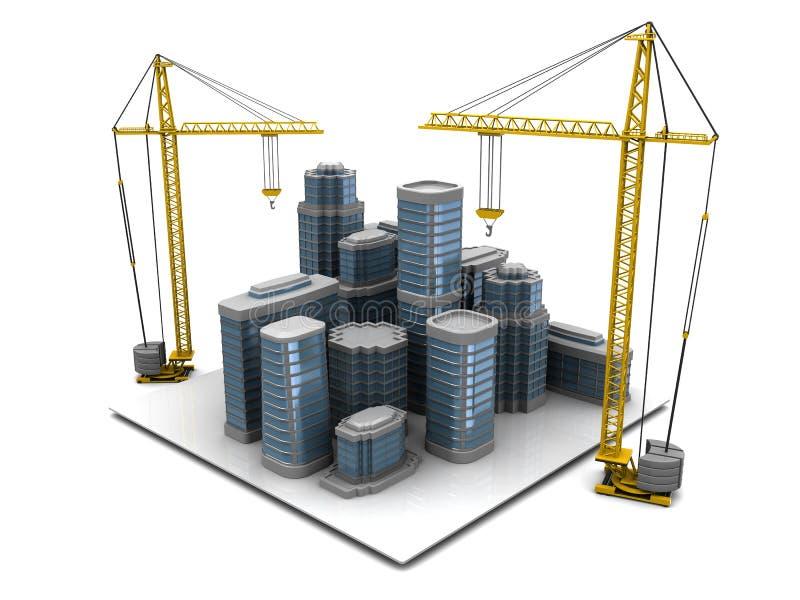 Construção da cidade ilustração royalty free