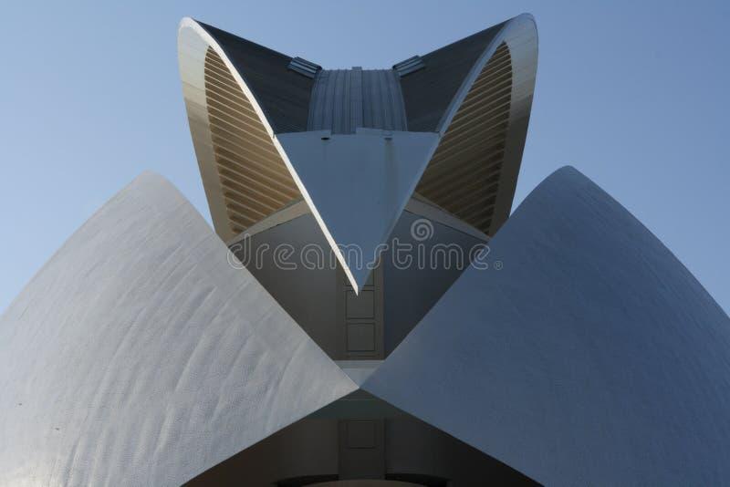 Construção da cidade das artes, detalhe imagens de stock royalty free