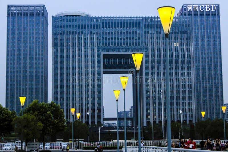 Construção da cidade de Nanjing fotos de stock