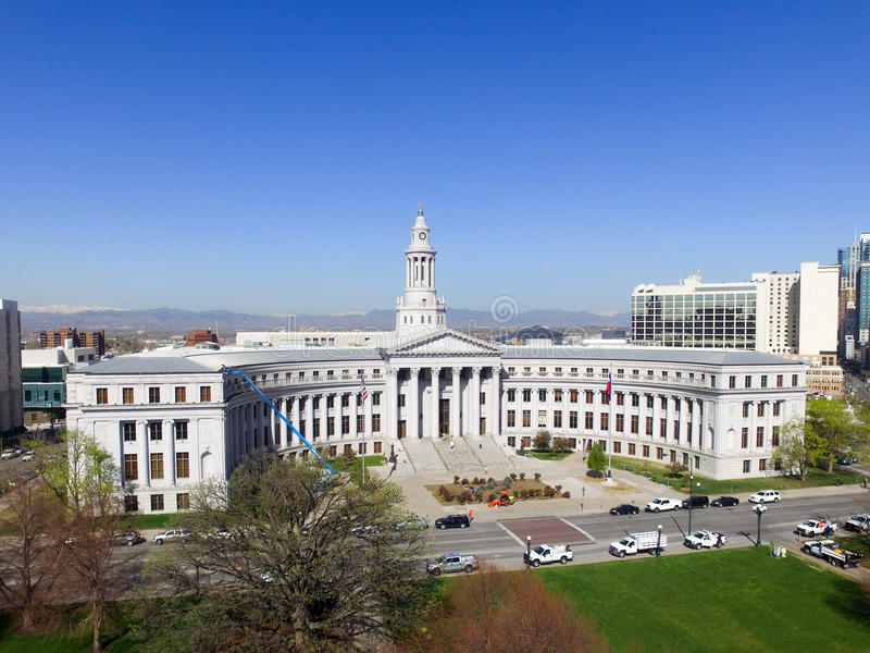 Construção da cidade e do condado em Denver foto de stock royalty free