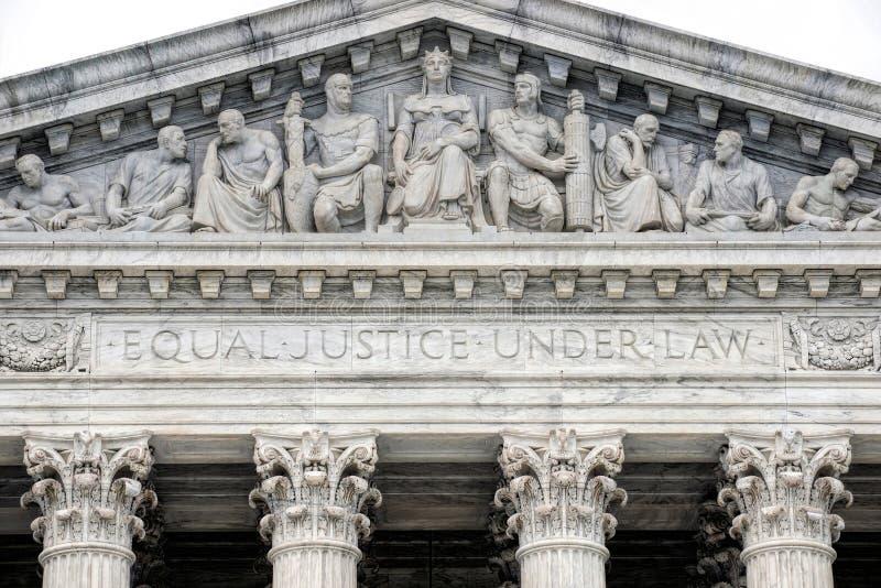 Construção da corte suprema imagem de stock
