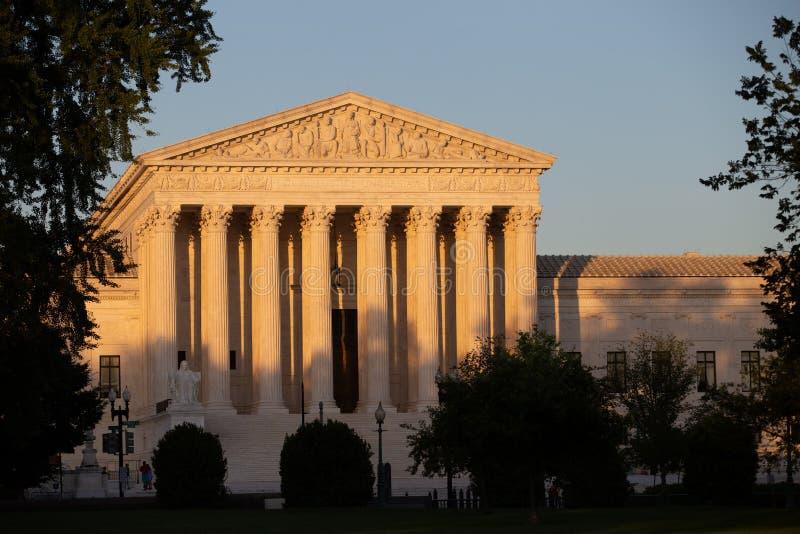Construção da corte suprema do Estados Unidos foto de stock royalty free