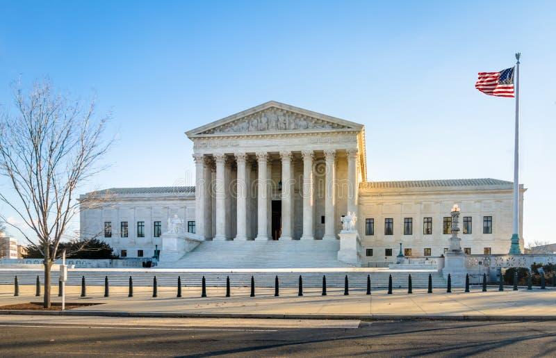 A construção da corte suprema do Estados Unidos - Washington, D C , EUA fotografia de stock